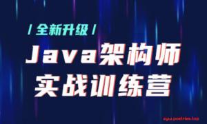 【某马架构师】Java架构师实战训练营 |完结无秘 【价值9880元】-2021年