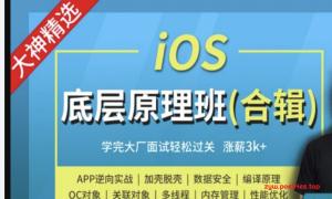 Mage-iOS底层原理班-大神MJ精选(上下班加周末班)|完结无秘